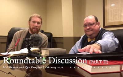 Roundtable Discussion With Mel Duncan – Part 2