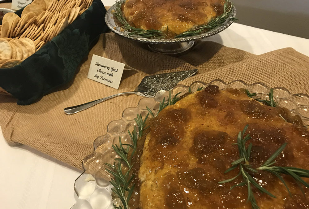 Rosemary Goat Cheese Mold with Fig Jam Topping